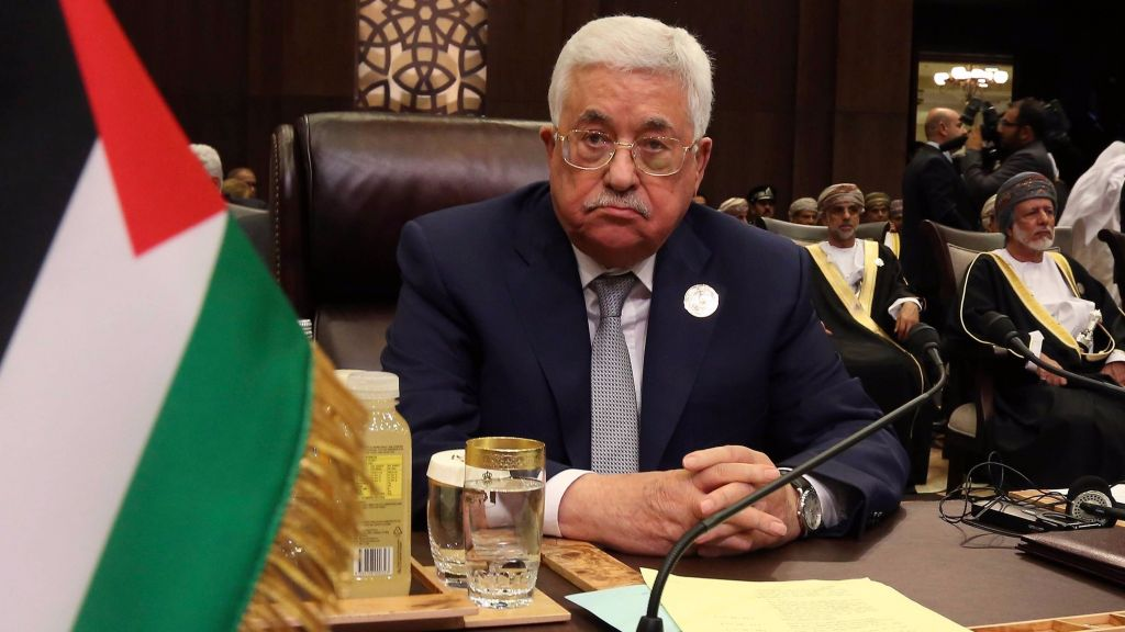 Palestinian Authority President Mahmoud Abbas attends the Arab League summit at the Dead Sea, Jordan, March 29, 2017. (AP Photo/Raad Adayleh)