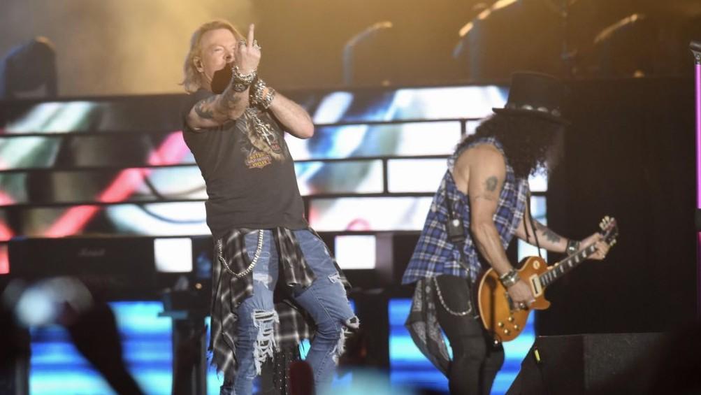 Guns N' Roses gave a three-hour plus concert in Tel Aviv on July 15, 2017 despite the summer heat. (courtesy Lior Keter)