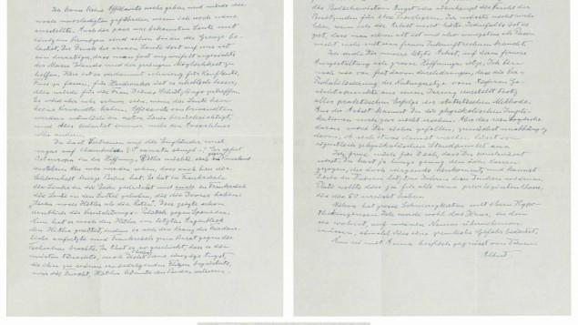 Albert Einstein 1938 ALS Regarding Hitler.  Photo credit: Nate D. Sanders Auctions (http://natedsanders.com/Albert_Einstein_1938_ALS_Regarding_Hitler_______Ho-LOT46972.aspx)