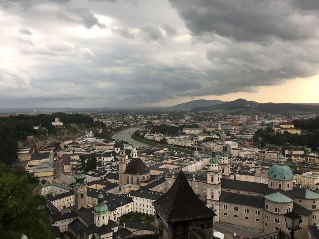 The town of Salburg, Austria. (Noah Lederman/Times of Israel)