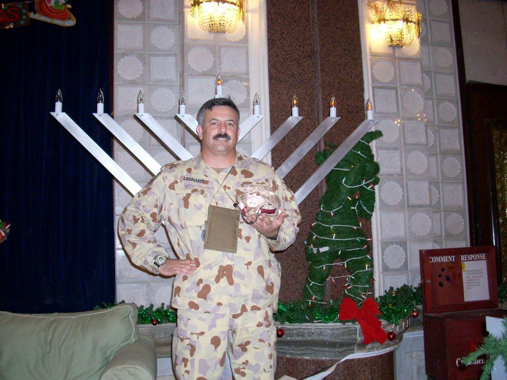 Major Scott Leonard, Hanukkah, 2007. (Courtesy Scott Leonard)