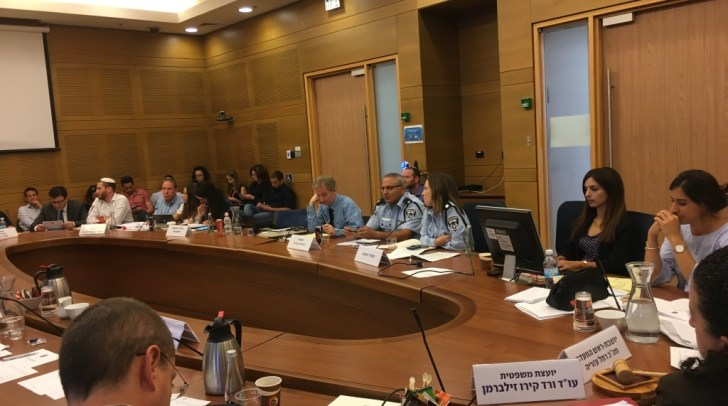 An August 2, 2017 meeting of the Knesset Reforms Committee devoted to the topic of banning Israel's binary options industry (Simona Weinglass/Times of Israel)
