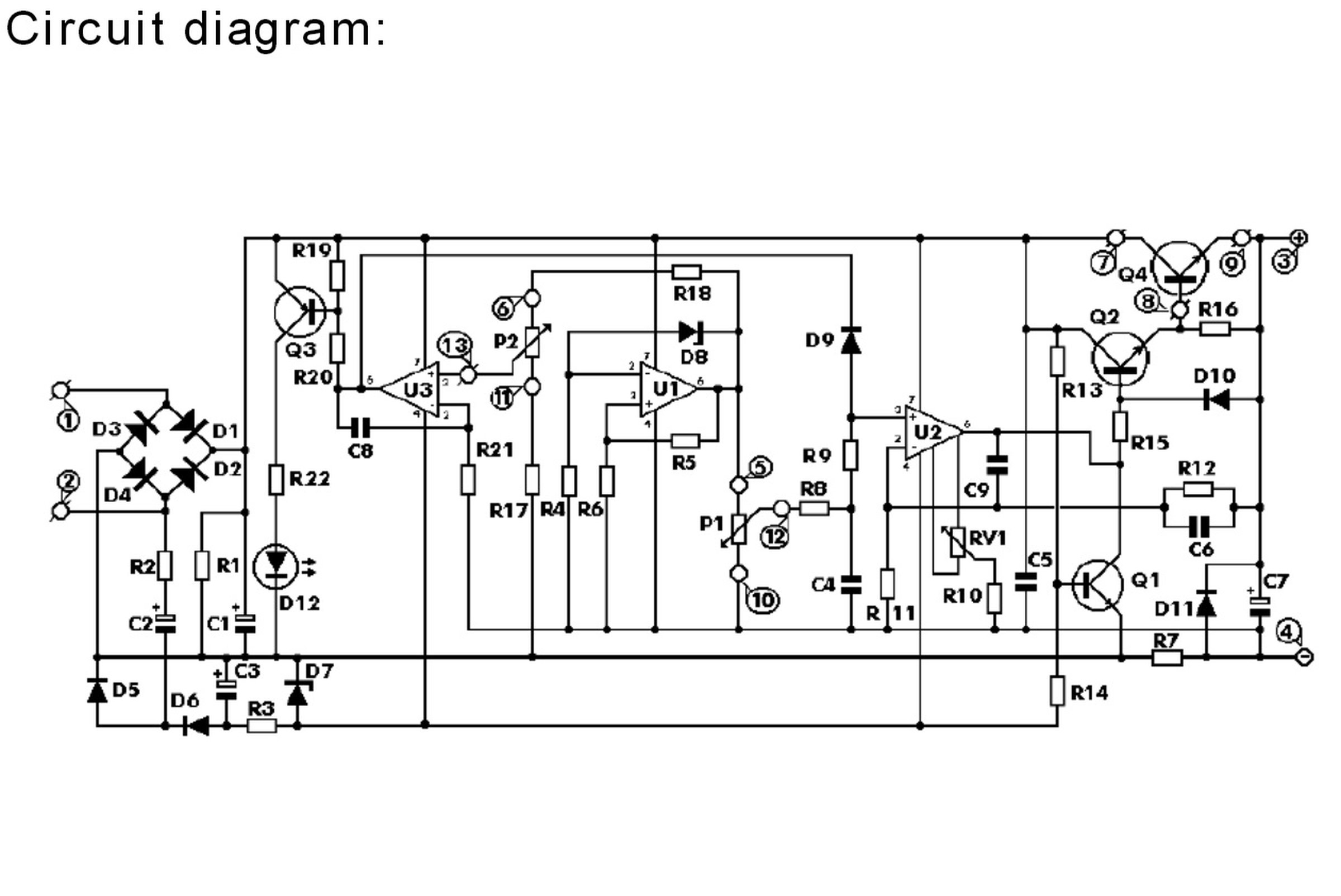 Circuit Diagram Of 0 30v Regulated Power Supp