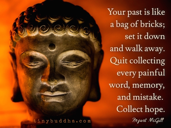 Your past is like a bag of bricks