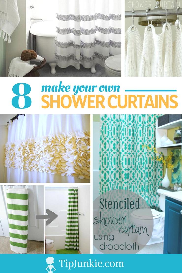 own shower curtain tutorials tip junkie