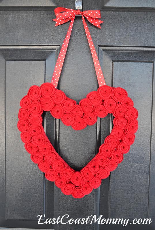 valentine wreath craft idea for valentines day - 430×640