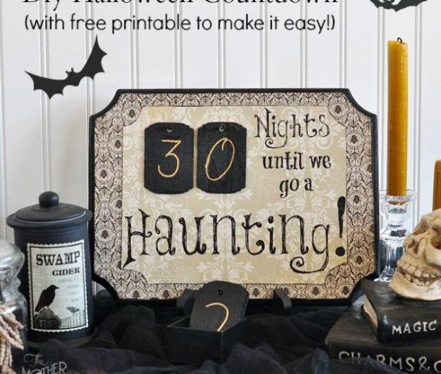 Diy Halloween Countdown With Free Printable