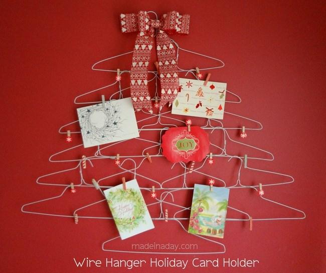 11 DIY Christmas Card Holders Tip Junkie