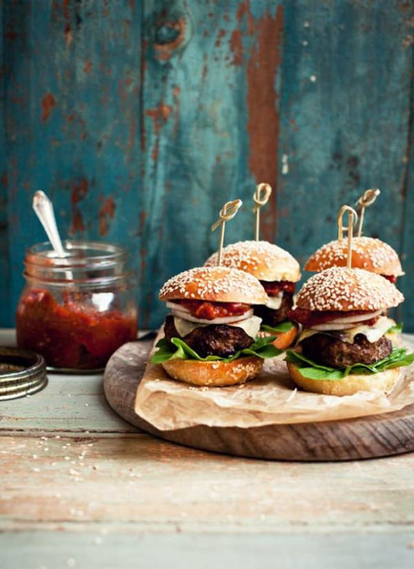 Mini Beef and Pork Sliders with Brioche Buns