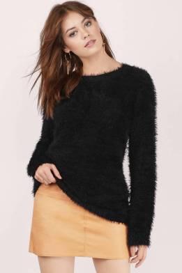Stay Cozy Black Sweater