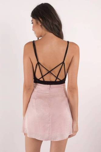 Backless bodysuits can go great with any outfit!