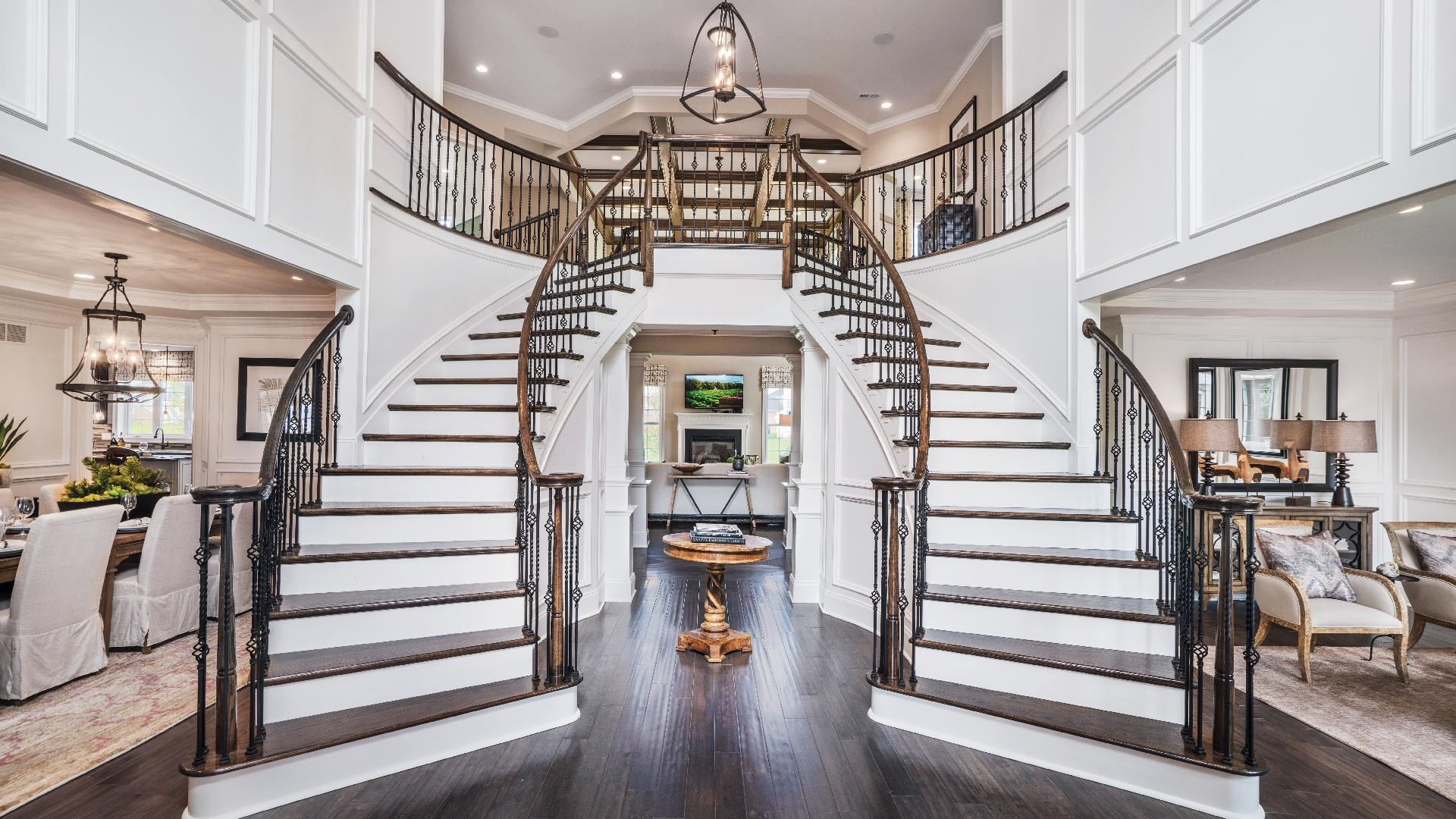 Toll Brothers At Montcaret The Harding Home Design   Double Staircase House Plans   12 Room   Mansion   Design   Small House   Bedroom