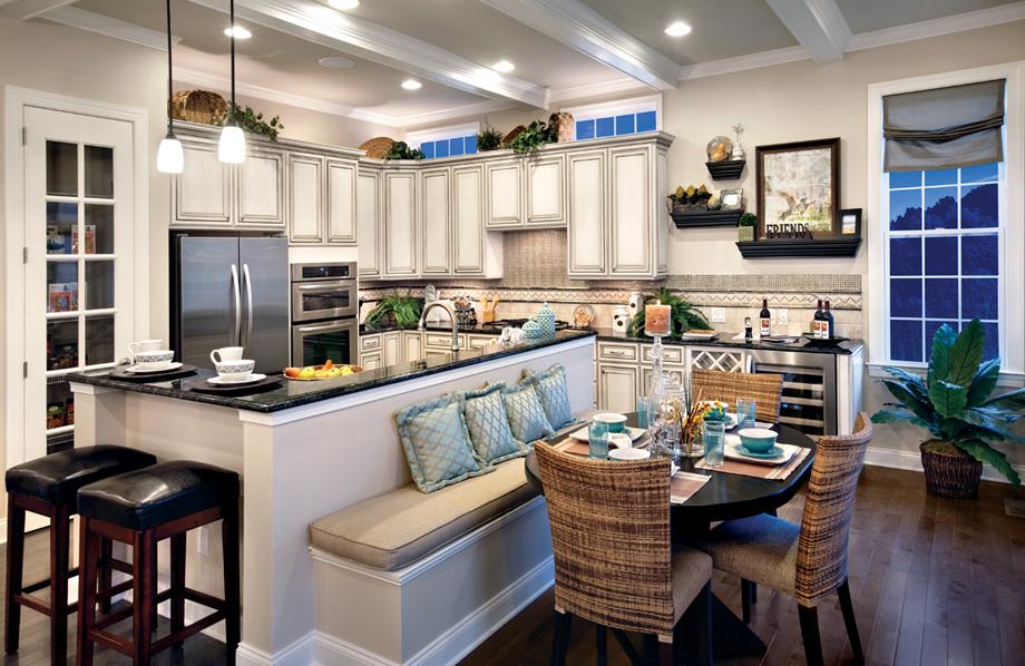Kitchen Breakfast Plans Nook Floor