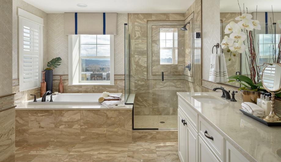 Parkhurst | The Enatai Home Design on Model Bathroom Ideas  id=46871