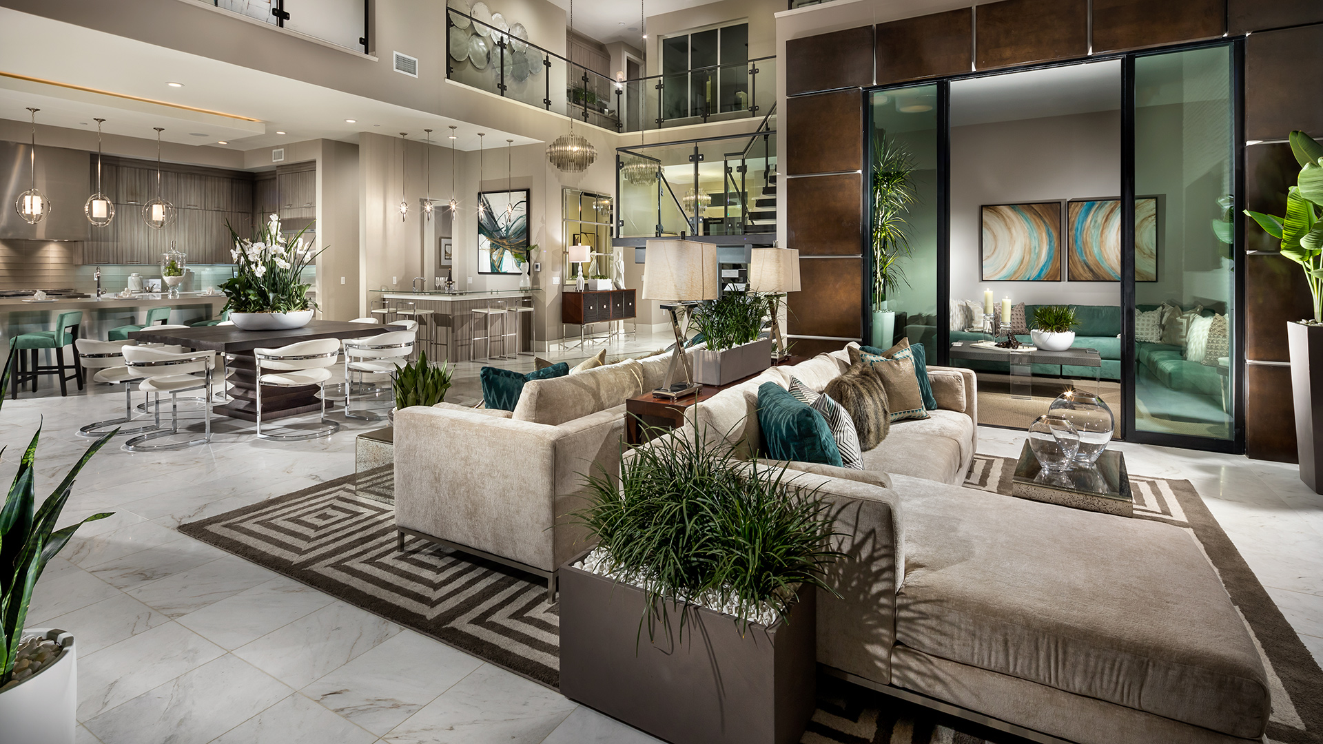 Great room with views to the luxury outdoor living space on Outdoor Living Space Builders Near Me  id=54514
