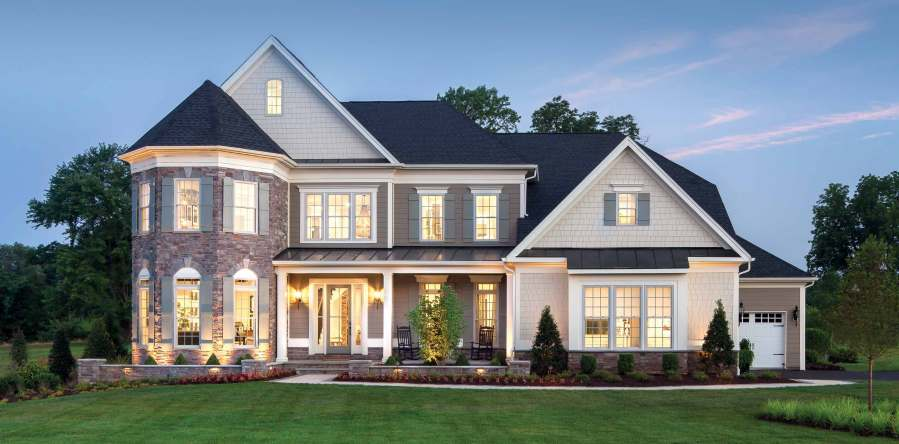 New Construction Homes for Sale   Toll Brothers     Luxury Homes The Ridgeview Lexington at Weatherstone in Baldwin  Maryland