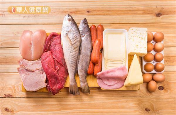 在國人「每日飲食指南」的6大類食物中,「豆魚蛋肉類」是蛋白質的主要攝取來源。