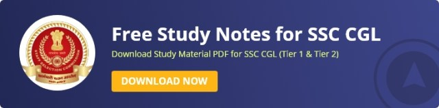 SSC CGL Study Notes