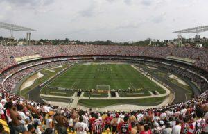 Visão ampla do estádio.  Foto: Divulgação/saopaulofc.net