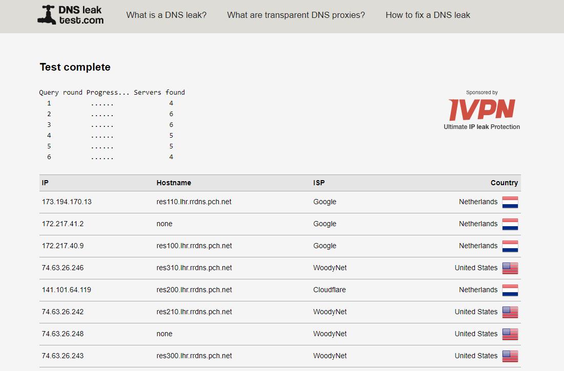 DNS-Leak-Extend-Test