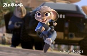 Judy Hoops chasing after a criminal in Zootopia. Image Credit: Disney