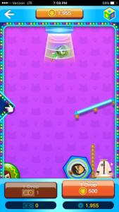 In-game screen capture of Miidrop, a mini-game in Miitomo. Image captured on iPhone 6s + Image Credit: Nintendo , Stephen Infantolino