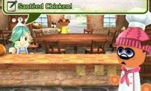 In-game image of Feed Mii showing an order being placed. Image Credit: Nintendo