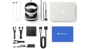 This shows what customers will receive in the unit only box of PlayStation VR. Photo Credit: Sony