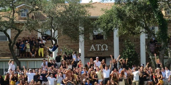 Total Frat Move ATO Fraternity House Party Spills Out