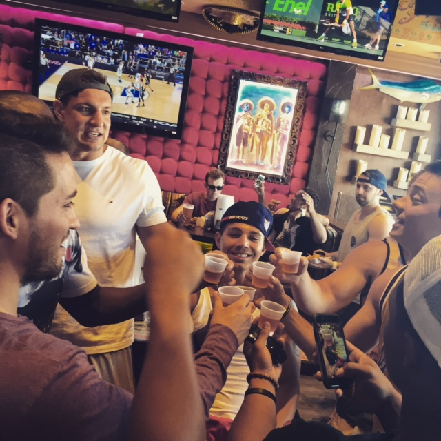 Taking shots with Gronk. TFM.