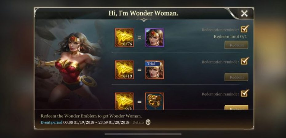 Here's How to Unlock Wonder Woman in 'Arena of Valor' Right