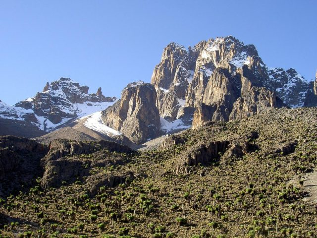 mount kenya 640x480 Volcanoes to Climb in East Africa