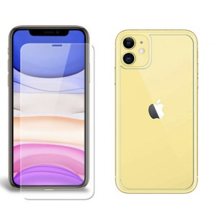pack verre trempe avant arriere iphone 11
