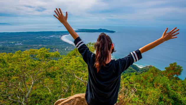 A woman on top of Cerro del Mono