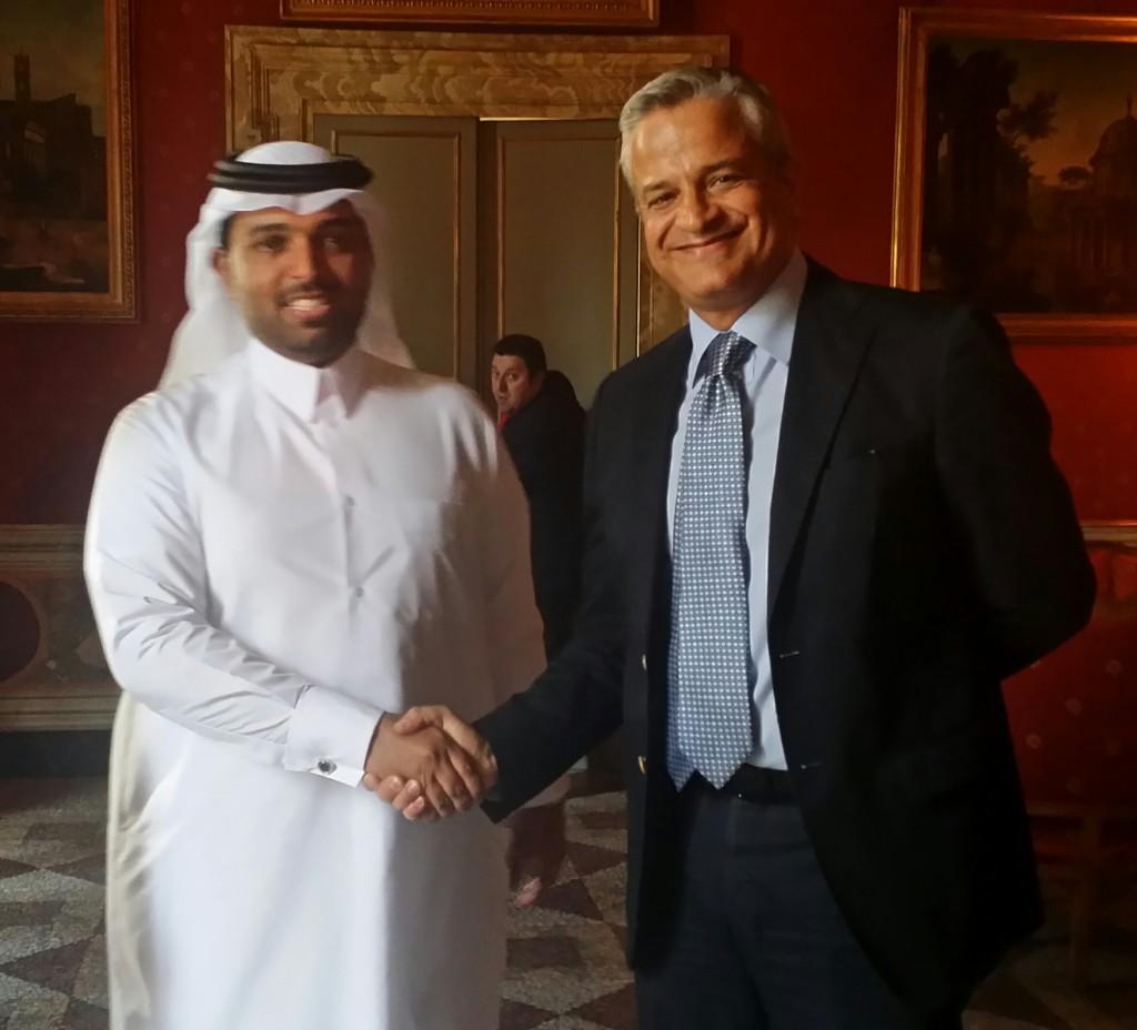incontro costanzo-sceicco qatar