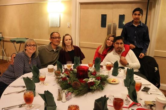 The picture shows the Dry Pro team at the annual Christmas party.