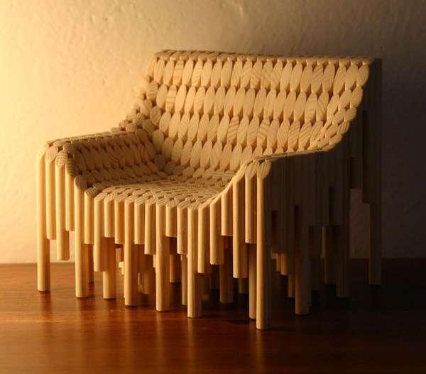 Pendurado Cadeiras Malha