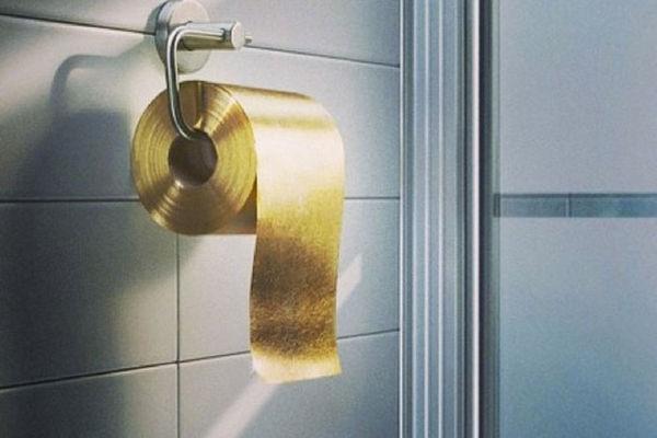 Billionaire Bathroom Tissues : 22 Carat Gold Toilet Paper