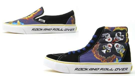 Satanic Rock Shoes Vans Releases KISS Pack Sneakers For