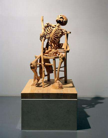 Carved Wood Skeletons Insanely Detailed Woodwork From Ricky Swallow