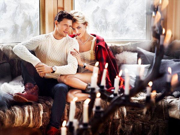 Cozy Couple Fashion Ads Apart Christmas 2013