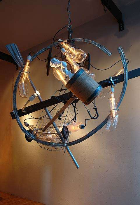 Junk Chandeliers Fancy Recycled Lighting Fixtures Turn Trashy Into Classy