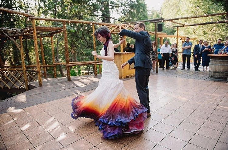 Dip Dye Brial Dresses Bridal Dress