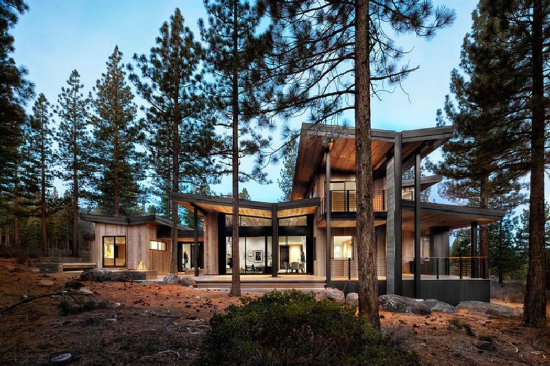 Contemporary Rustic Homes Contemporary Rustic
