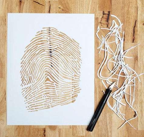 Intricate Paper Recreations Custom Fingerprint Cutouts