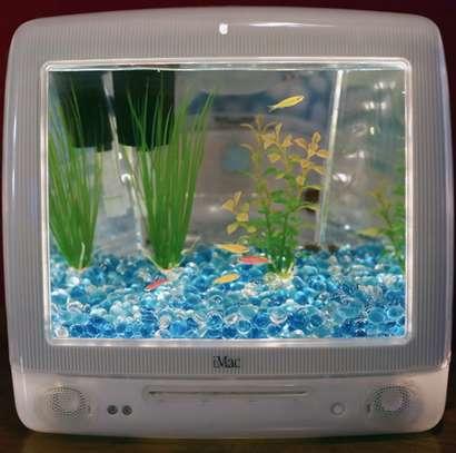 Upcycled Computer Aquariums DIY Aquarium