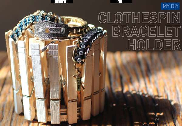 Snappy Jewelry Containers DIY Clothespin Bracelet Holder