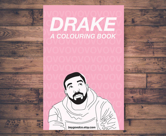 Rapper Inspired Coloring Books Drake Coloring Book