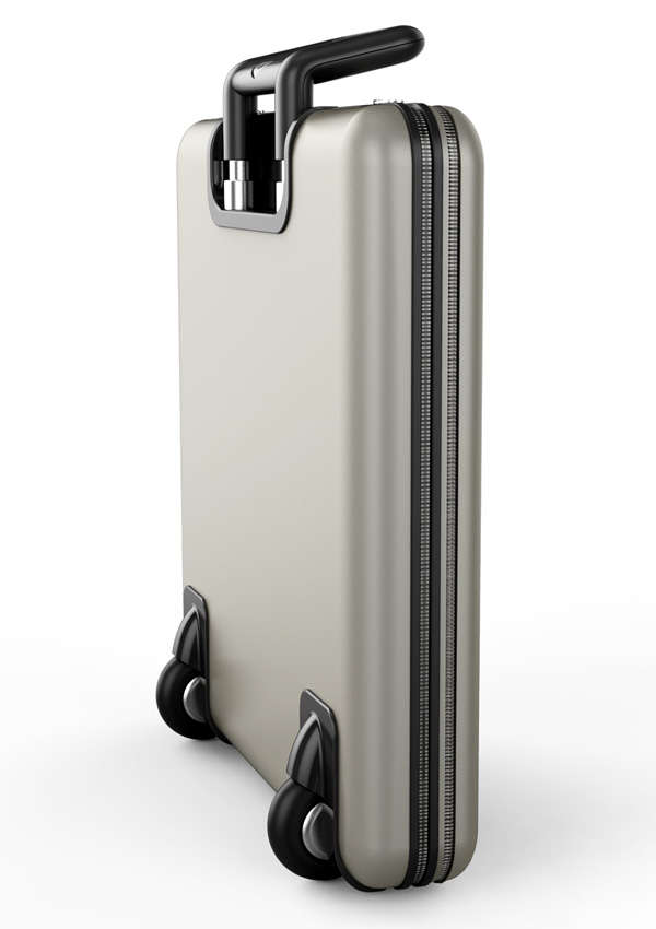 Compressed Luggage Designs : folding suitcase