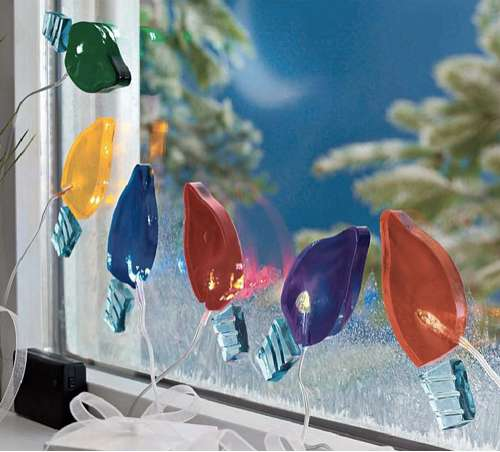 Sticky Holiday Decor Gel Gem Christmas Lights